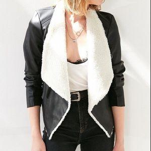 BB Dakota faux leather shearling jacket